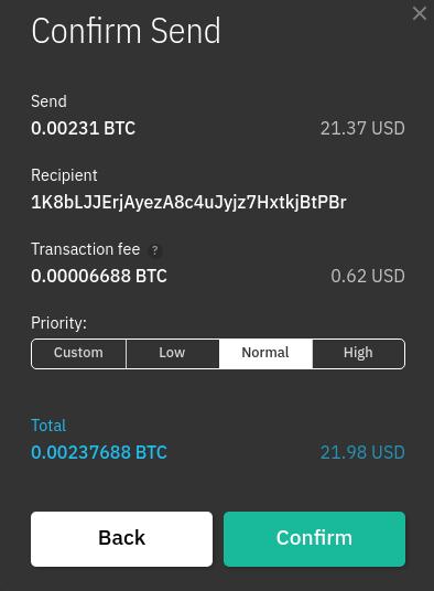 bitcoin küldése és fogadása